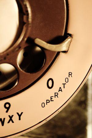 rotative: Rotary t�l�phone avec ligne  Banque d'images