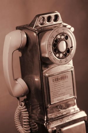 Retro Rotary Payphone  Banque d'images - 268923
