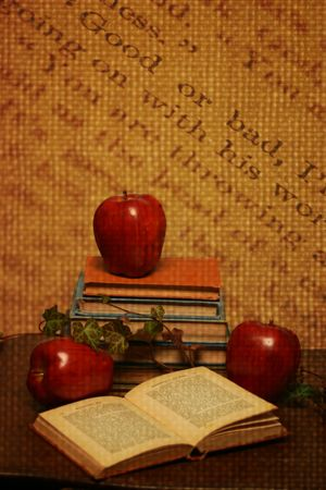 Education themed collage done in a vintage style photo