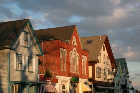 Main Street of a seaside New England town. Reklamní fotografie