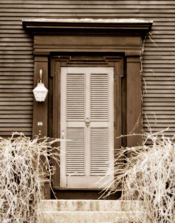 Wooden door on a historic New England home Reklamní fotografie