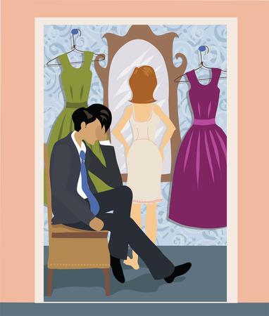 kleedkamer: Man en vrouw in de kleedkamer