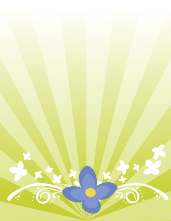 Floral Background Ilustrace