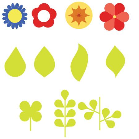 geometrical flower set Ilustrace