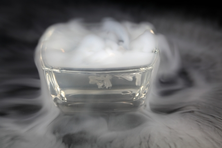 Bowl with dry ice