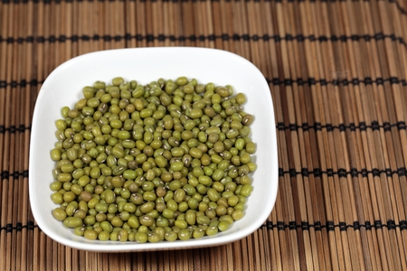 biologic: A macro photograph of mung beans. Stock Photo