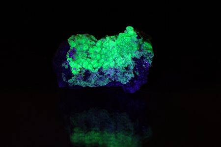 Fluorescent Tantalite Minerals from Namibia.