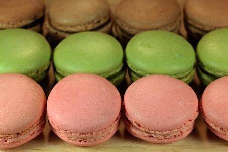 Macro photography of French Macaron.