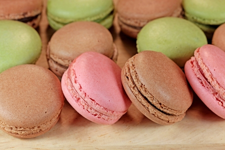 maronite: Macro photography of French Macaron.