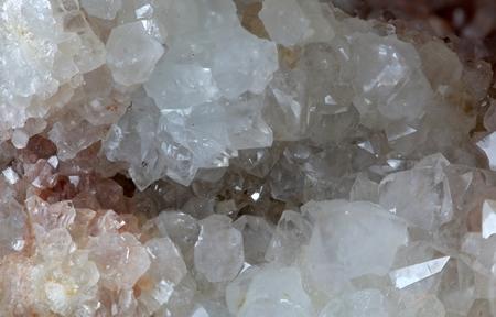 mineralogy: A macro photography of rock crystals. Stock Photo