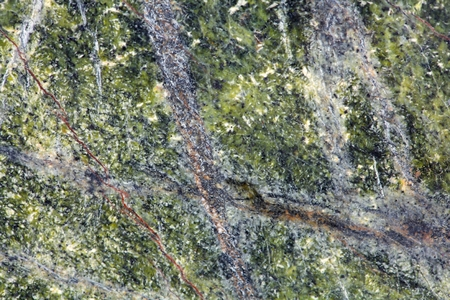 metamorphic: Macro photography of the polished surface of a metamorphic serpentinite rock. Stock Photo