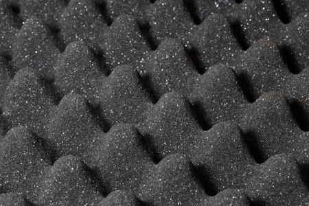 sound proof: A detail photo of studio sound foam.
