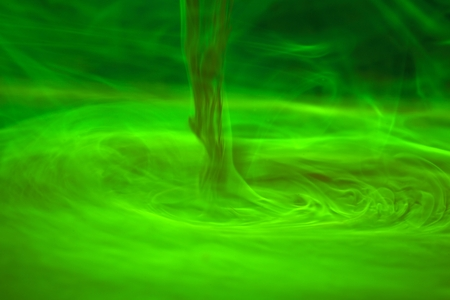 fluorescence: Fluorescence in water.  Fluorescence is a green, fluorescent coloring agent for water.
