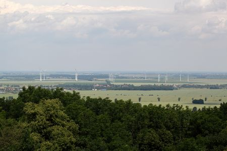 saxony: Landscape in Saxony Anhalt in central Germany. Stock Photo