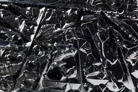silicio: La superficie de los cristales de silicio puro para el uso industrial.
