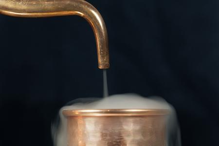 copper pipe: A copper pipe of a distillery with steam.