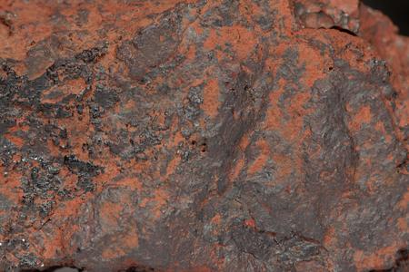 Macro photo of the iron ore Hematite.