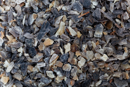 Horn shavings for nutrition in agriculture as background or texture.