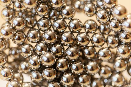 Abstract with small steel balls as texture or background.