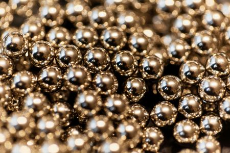 Abstract with small steel balls as texture or background. Imagens - 94540686