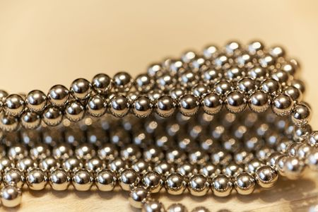Abstract with small steel balls as texture or background. Imagens - 94540689