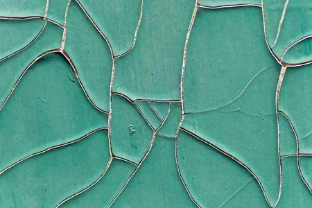 Old green paint with fissures as background.