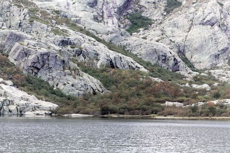 View on the Lac de Melo in the Restonica valley in Corsica, France Banque d'images
