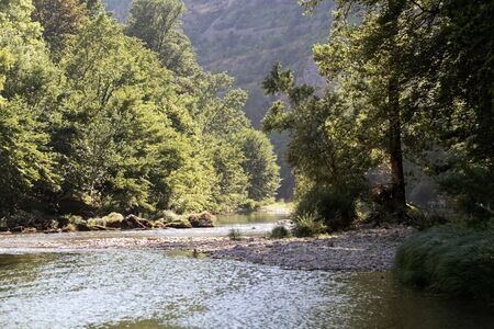 The river Tarn in Occitanie, Southern France Stock Photo