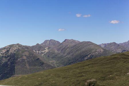 Landscape at the Pas de la Casa in the Pyrenees in Andorra.