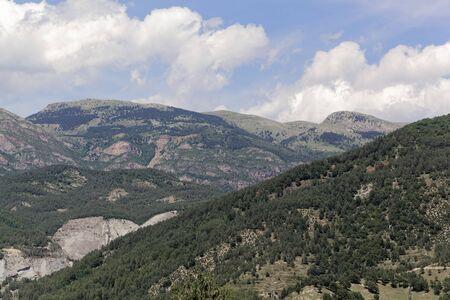Landscape in the Parque Natural del Cadi-Moixero in the Pyrenees in Spain
