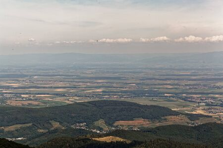Landscape around the Grand Ballon in the Vosges Mountains, Eastern France.