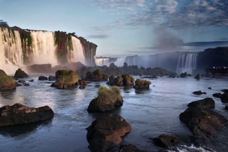 Waterfalls in Iguazu between Brazil and Argentina