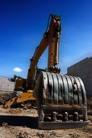Closeup picture of a shovel from a bulldozer Stock Photo - 829439