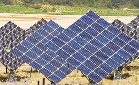 Some solar panel generating energy.