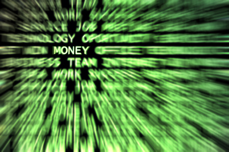 Money word shown in a business words mix background