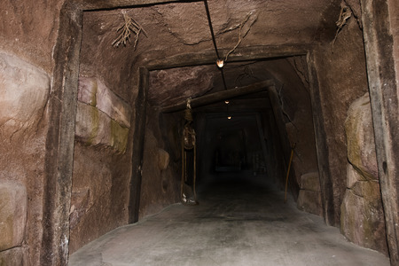Tunnel to the dark from a mine.