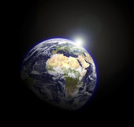 Earth goble viewed from the stars.