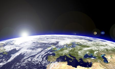Europe seen from the space.