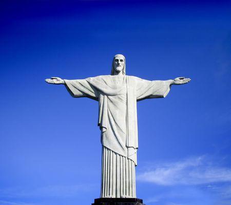 rio de janeiro: Famous statue of the Christ the Reedemer, Brazil moment in Rio de Janerio Editorial