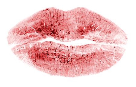 Silhouette rossa di un bacio