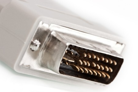 Digital DVI connector in a close up photo Stock Photo - 4480957