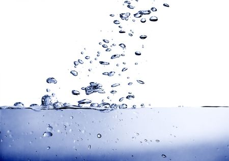 gaseous: Blue tinted gaseous water, full of bubbles and waves.