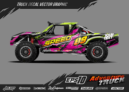 Speed off road truck decal designs