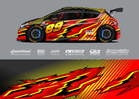 Race Car Livery Designs Ilustração