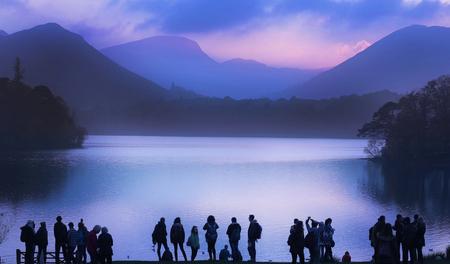 distric: An Evening at Derwentwater, Lake Distric