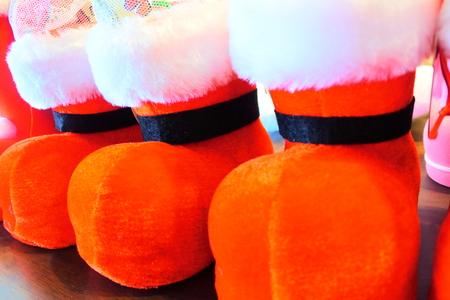 クリスマス ブーツ 写真素材