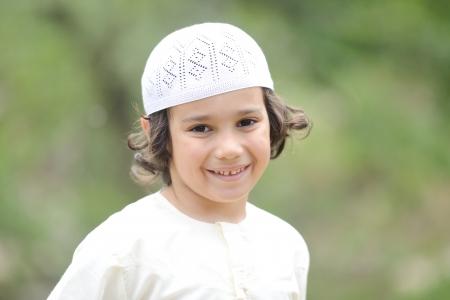 Portrait of Arab little kid outdoor Reklamní fotografie