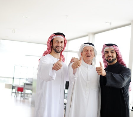 Successful and happy business arab