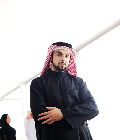 arab man: Modern arabic businessman