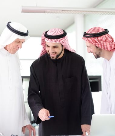 arab people: Successful and happy business people